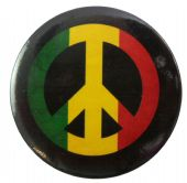 Rasta Peace Sign - 56mm Badge